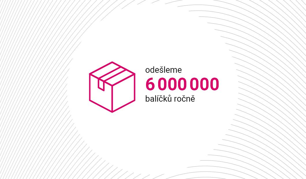 6 000 000 balíčků ročně