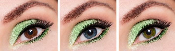Zelení líčení - barvy očí