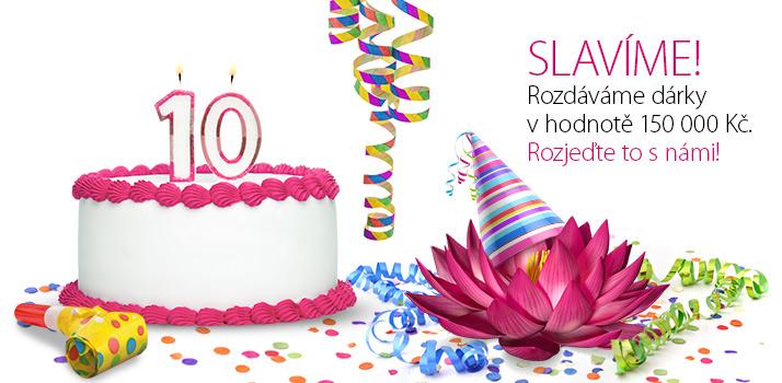 dárek k 10 narozeninám Máme 10 let! Oslavte to s námi – přijďte si pro dárek nebo  dárek k 10 narozeninám