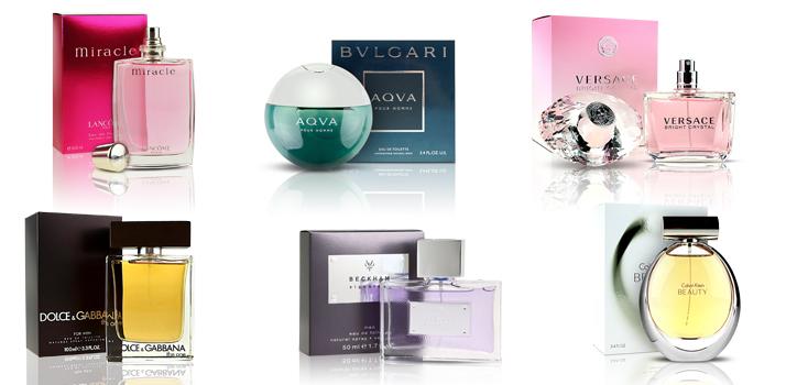 parfemy kolaz vahy