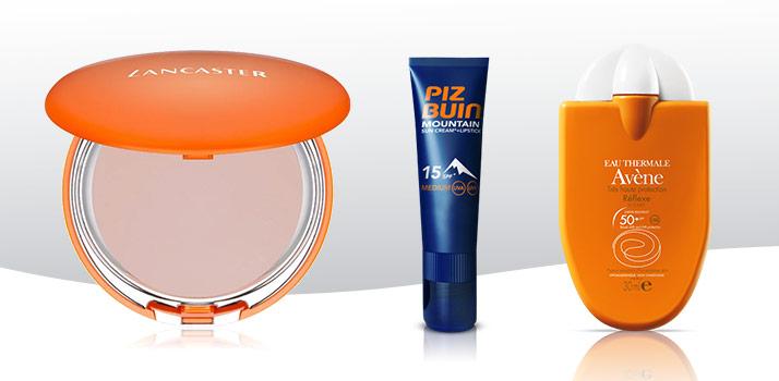 sluneční kosmetika pro ochranu před sluncem na horách