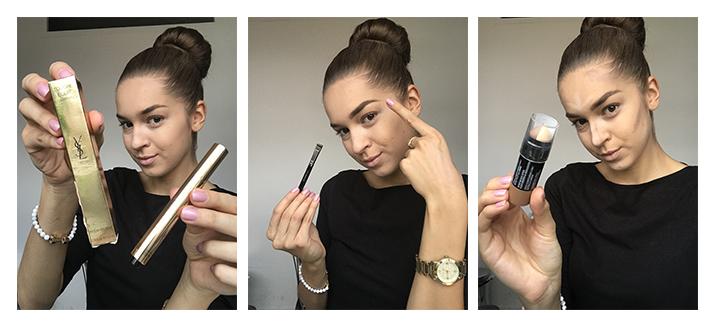 bronzový makeup look