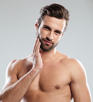 cuidado de barba para o noivo